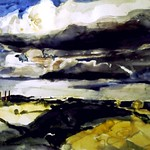Cloud Study, 1992, watercolour on paper