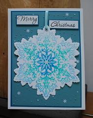 Marina christmas Blue Snowflake