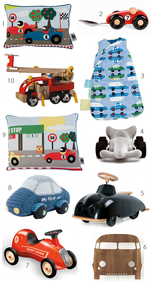 gift ideas for little car lovers the style files. Black Bedroom Furniture Sets. Home Design Ideas