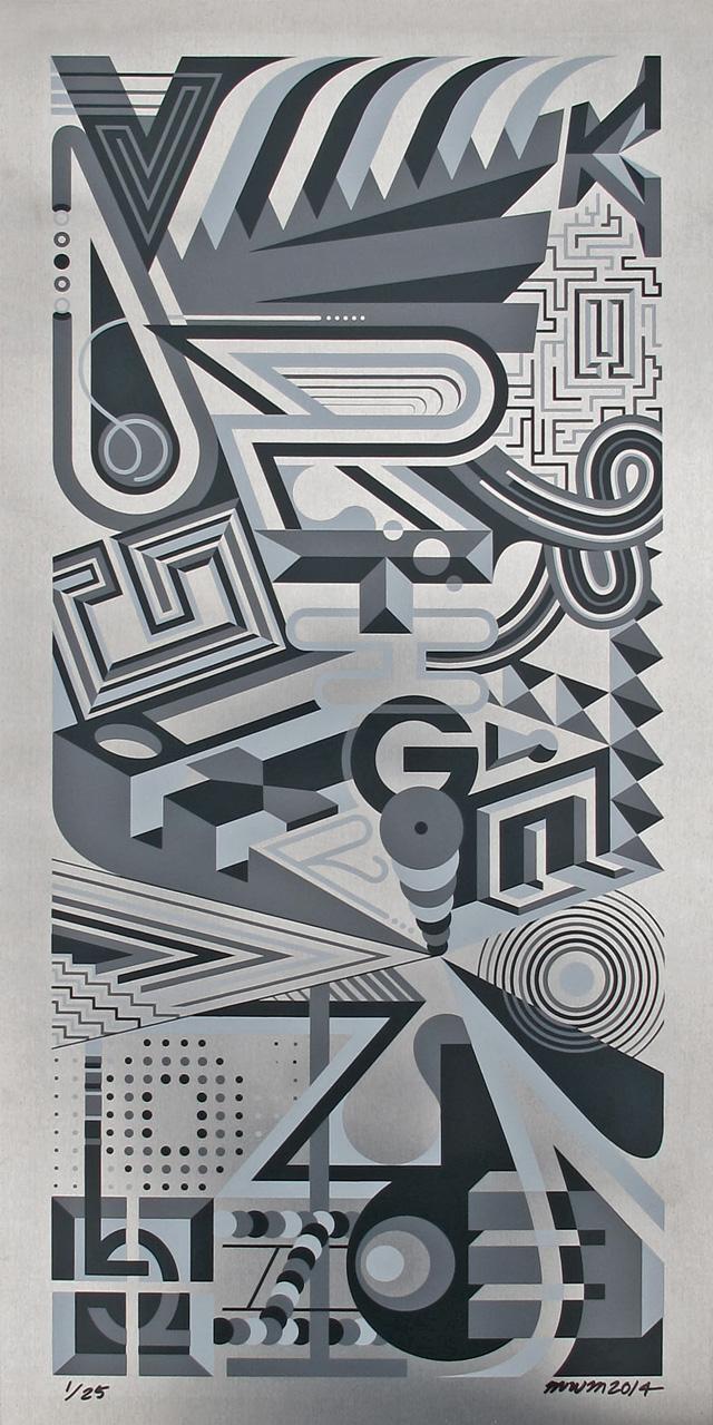 1xRUN 'Vertigo' Aluminum Print.