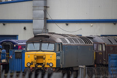 57313 and 47746 at Wabtec (Barclays) Kilmarnock having worked 5Z00 from Old Oak Common in the early hours of Friday 4th April 2014...