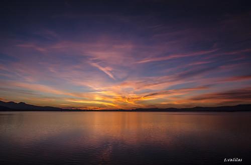 morning sea sky nature sunrise colours rise evia chalkida chalkis euboea