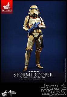 Hot Toys - MMS364 - 《星際大戰》1/6比例帝國風暴兵 (金色電鍍版) Stormtrooper (Gold Chrome Version)