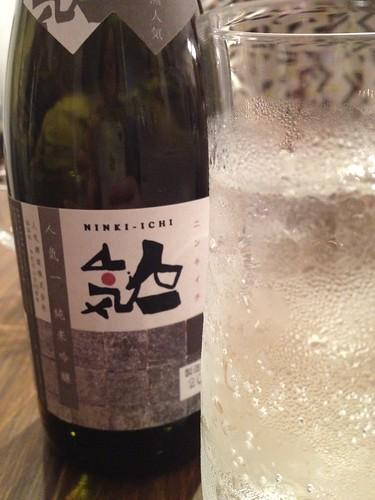 日本酒のハイボール。なかなかいいかも。@日本酒の新しい楽しみ方を学ぶ!ワークショップ
