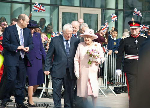 The Queen at MediaCityUK by The Neepster