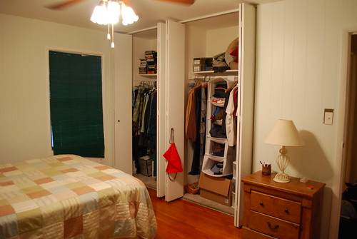 Looking towards the closets - doors open