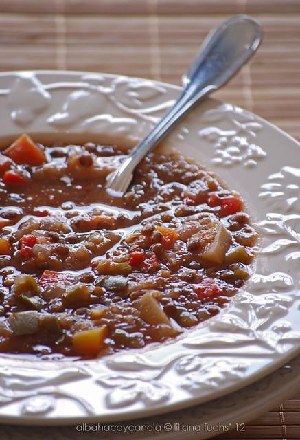 Lentejas de Puy con quinoa