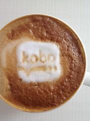 Today's latte, kobo.