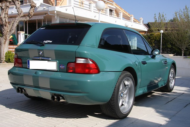 1998 M Coupe | Evergreen | Evergreen/Black | Silver Vinyl Racing Stripes