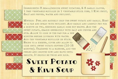 Sweet Potato & Kiwi Soup by Lukasmummy