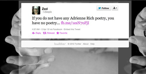 Adrienne Rich Tweet