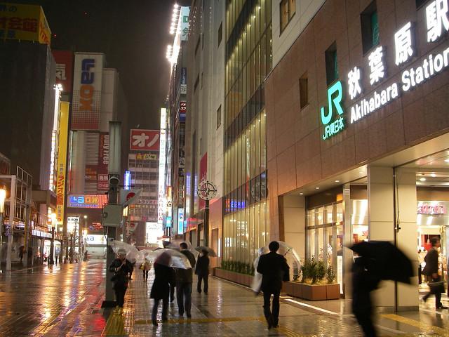 JR Akihabara station : 3 April 2012 : Akihabara was hit by the storm of spring
