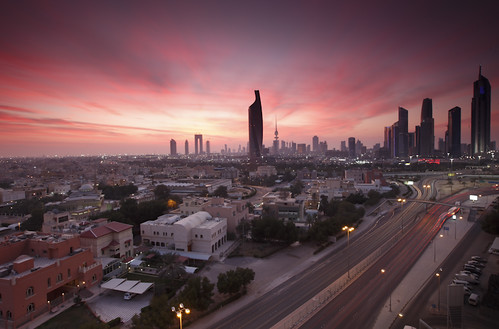 Kuwait - City Skyline Sunset