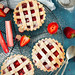 Rhubarb and strawberry crostata