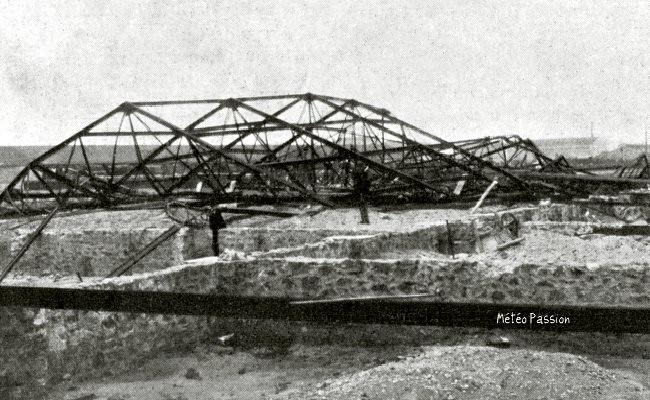 hangar de Sète balayé par la Tramontane le 7 avril 1911 météopassion