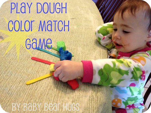 play Dough color match game