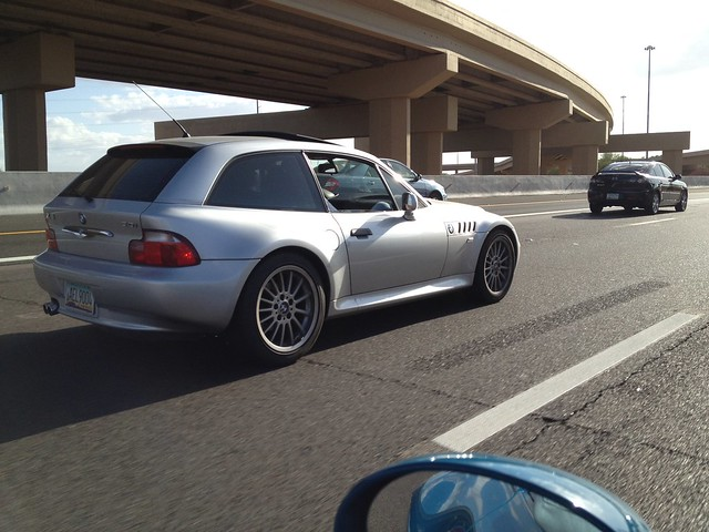 Spotted: M54B30 Z3 Coupe | Titanium Silver | Black | AZ License Plate AEL9004