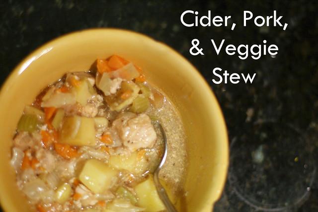 Cider, Pork, & Veggie Stew