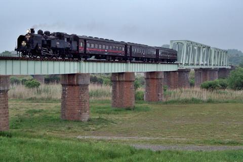 磐越東線を走ったC11(SLあぶくま号)