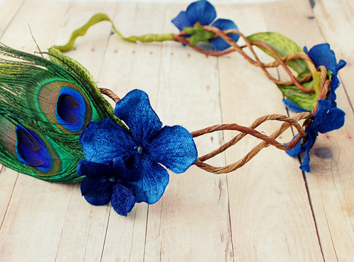 York County Wedding Planner | DIY Hydrangea Peacock Crown