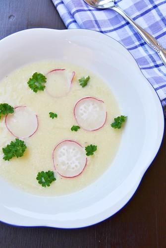 Spring Potato Soup with Kohlrabi