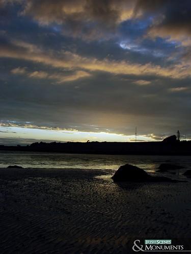 sunset galway beach bay ballyloughane
