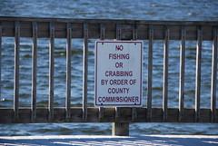 No fishing or crabbing