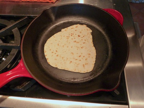 Piadina in the skillet
