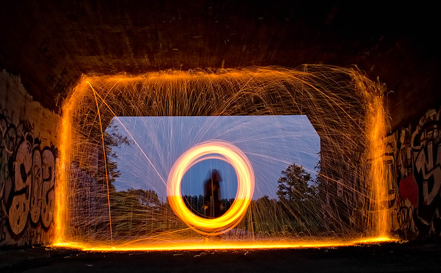 Lightpainting (on Flickr Explore)