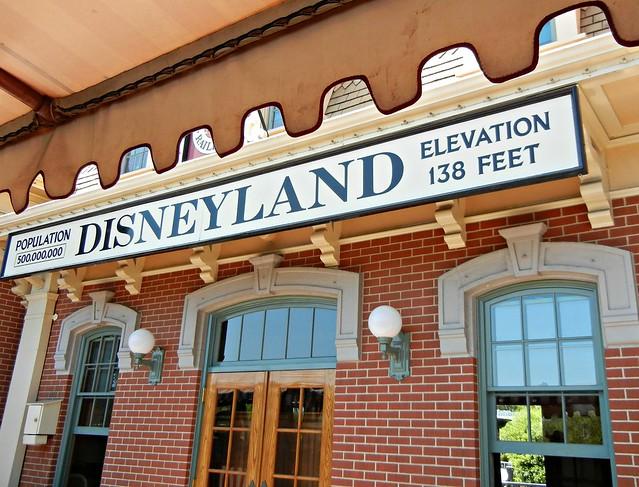 Sign at Disneyland train station | Flickr - Photo Sharing!