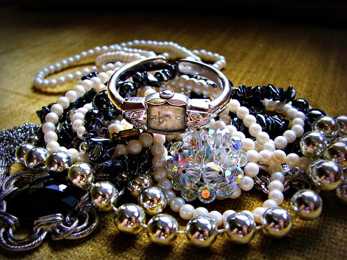 Mom's watch, pearls and crystals ... by Sparky2*