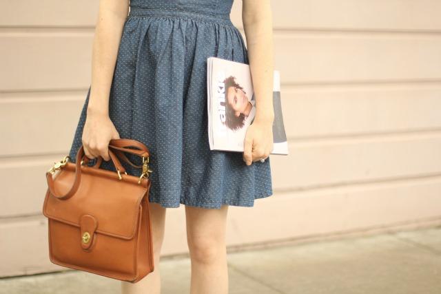 coach bag and magazine
