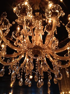 Chandelier in the Pinnacle Grill