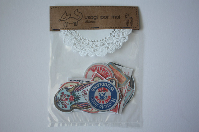 Usagi Por Moi Vintage Label Stickers