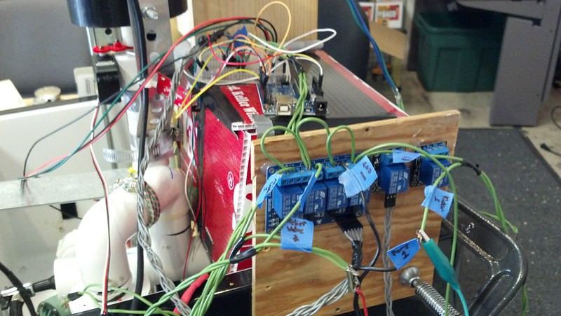 An early electronics setup using an Arduino Uno (it actually got MESSIER!)