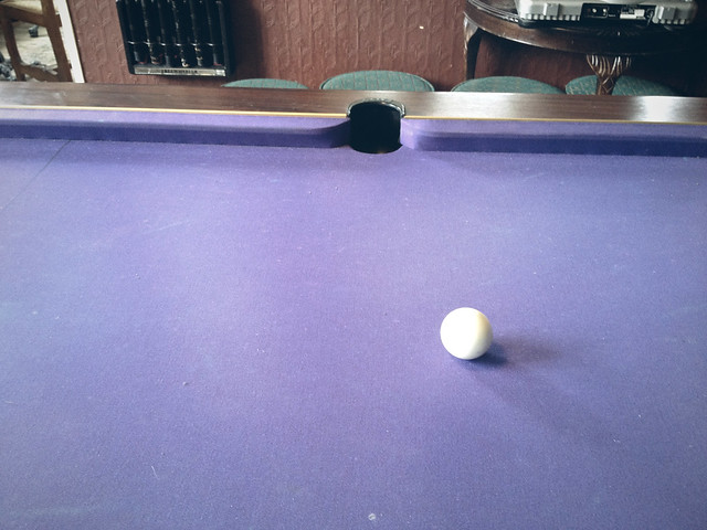 Earl Ferrers, pool table