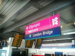 London Bridge Olympic signs