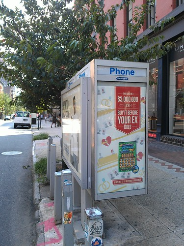 New NYC Wi-Fi access point on this payphone kiosk at W Bway and Spring