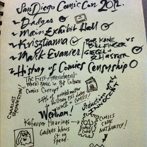 First Comic-con notes! Exhausted already.