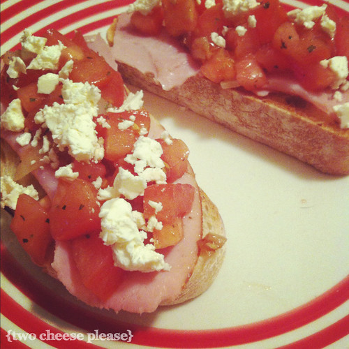 bruschetta on a plate