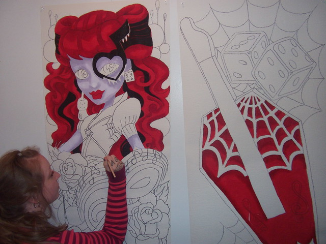 Monster High Doll Wallpaper Art Sricker Mural Handmade