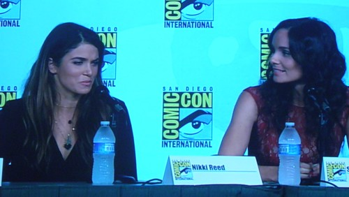 Nikki Reed adn Sarah Wayne Callies, on the Entertainment Weekly: Powerful Women in Pop Culture (aka Women Who Kick Ass!) Panel at Comic Con