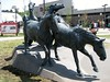 9708 Alberta Calgary Stampede 100th Anniversary - bronze sculpture – 'By the Banks of the Bow'