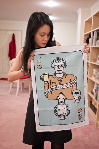 Flight of the Conchords tea towel