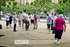 Noisy English playing boules ( petanque) - Roque Gageac