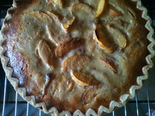 Peach Yogurt Custard Pie 4
