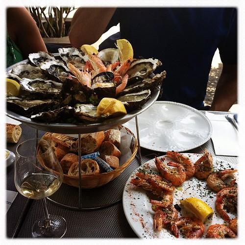 Super déjeuner avec les fruits de mer et @clumsy_maria