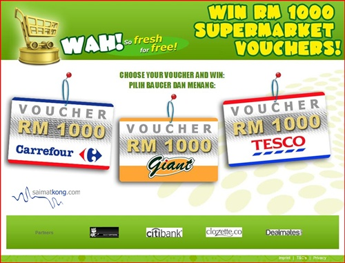 Win RM1000 Supermarket Vouchers!? Carrefour, Giant, Tesco. Scam? Database collection?
