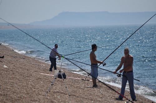 Chesil Beach anglers