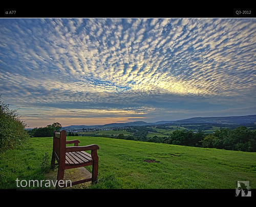 trees sunset sky green southwales wales clouds bench mackerel bluesky hills hdr valleys tomraven bestcapturesaoi aravenimage flickrstruereflection1 flickrstruereflection2 q32012